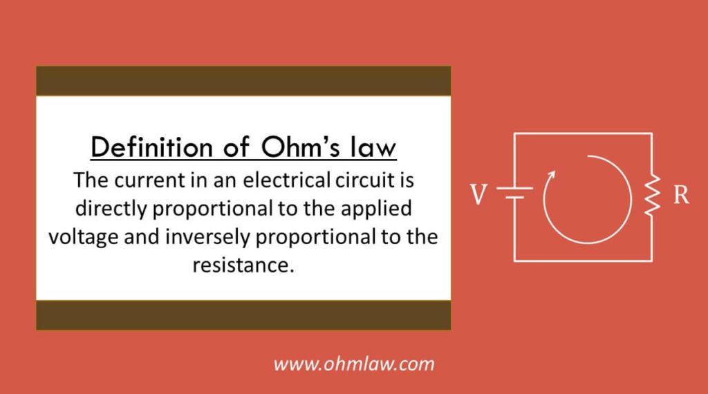 definiton-of-ohms-law