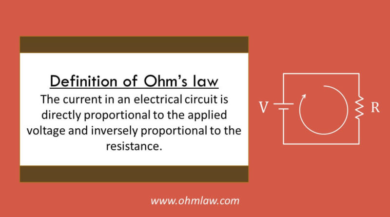definiton-of-ohms-law