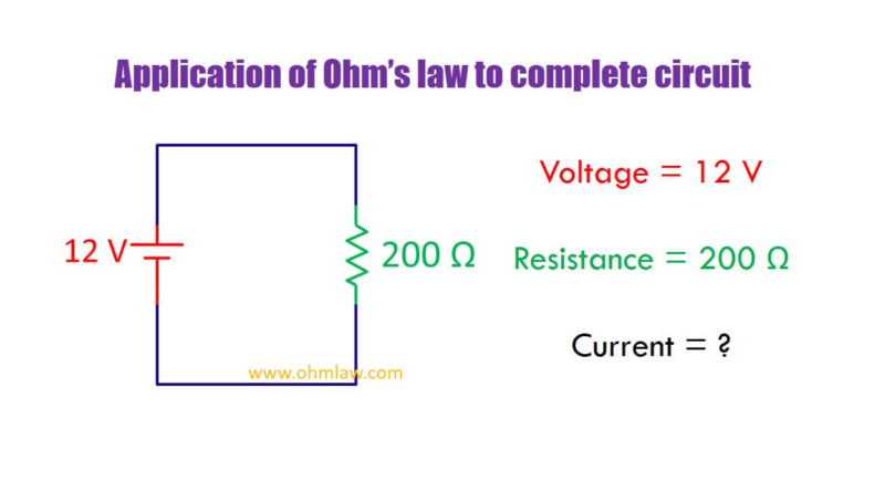 application-of-ohms-law-to-complete-circuit